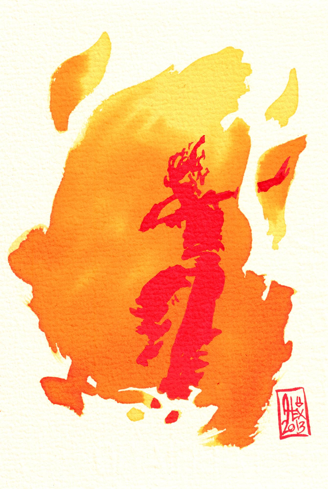 Encres : Capoeira – 349 [ #capoeira #watercolor #illustration]