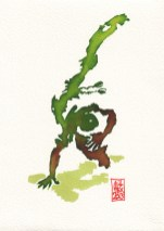 Encres : Capoeira – 359 [ #capoeira #watercolor #illustration]