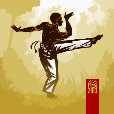 Illustration : Capoeira – 369 [ #capoeira #vectoriel #illustration]