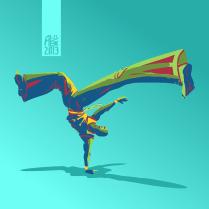 Illustration : Capoeira – 371 [ #capoeira #vectoriel #illustration]