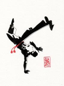 Encres : Capoeira – 398 [ #capoeira #watercolor #illustration]