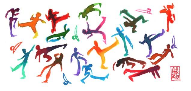 Encres : Capoeira – 404 [ #capoeira #watercolor #illustration]