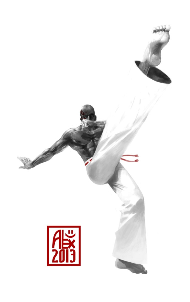 """Le Capoeiriste Scorpion / The scorpion Capoeirista"" Encres : Capoeira – 411 [ #capoeira #digital #illustration] Peinture digitale faite avec Mypaint / Digital painting made with Mypaint."