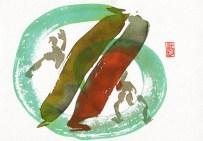 Encres : Capoeira – 423 [ #capoeira #watercolor #illustration] Encre sur papier 300gr / Ink on paper 300gr 17 x 24 cm