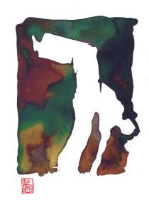 Encres : Capoeira – 424 [ #capoeira #watercolor #illustration] Encre sur papier 300gr / Ink on paper 300gr 14.5 x 21.5 cm