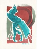 Encres : Capoeira – 434 [ #capoeira #watercolor #illustration] Encre sur papier 300gr / Ink on paper 300gr 14 x 19 cm