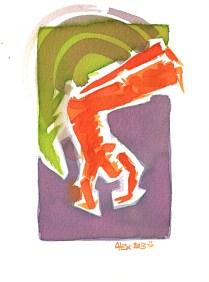 Encres : Capoeira – 437 [ #capoeira #watercolor #illustration] Encre sur papier 300gr / Ink on paper 300gr 14 x 19 cm