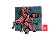 Encres : Capoeira – 508 [ #capoeira #watercolor #illustration] Encre sur papier 190gr / Ink on paper 190gr 14.8 x 21 cm / 5.8 x 8.3 in