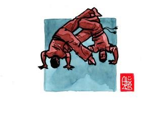 Encres : Capoeira – 515 [ #capoeira #watercolor #illustration] Encre sur papier 190gr / Ink on paper 190gr 14.8 x 21 cm / 5.8 x 8.3 in