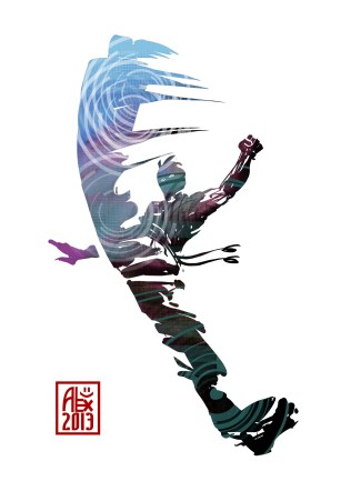 Encres : Capoeira – 525 [ #capoeira #digital #illustration] Illustration digitale / Digital painting 14.8 x 21 cm / 5.8 x 8.3 in