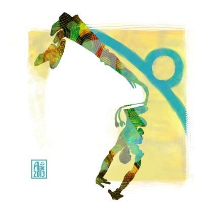 Encres : Capoeira – 533 [ #capoeira #digital #illustration] Illustration digitale réalisée avec GIMP/ Digital painting made with GIMP