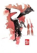 Encres : Capoeira – 550 [ #capoeira #watercolor #illustration] aquarelle sur papier 300gr / watercolor on paper 300gr 18 x 25 cm / 7.1 x 9.8 in