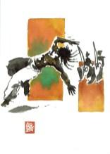 Encres : Capoeira – 551 [ #capoeira #watercolor #illustration] aquarelle sur papier 300gr / watercolor on paper 300gr 18 x 25 cm / 7.1 x 9.8 in