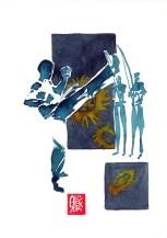 Encres : Capoeira – 559 [ #capoeira #watercolor #illustration] aquarelle sur papier 300gr / watercolor on paper 300gr 18 x 25 cm / 7.1 x 9.8 in