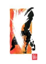 Encres : Capoeira – 576 [ #capoeira #watercolor #illustration] aquarelle sur papier 300gr / watercolor on paper 300gr 18 x 25 cm / 7.1 x 9.8 in