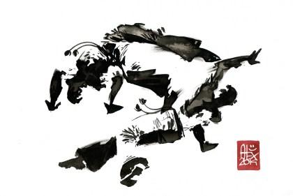Encres : Capoeira – 586 [ #capoeira #watercolor #illustration] aquarelle sur papier 300gr / watercolor on paper 300gr 30 x 20 cm / 12 x 7.9 in