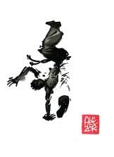 Encres : Capoeira – 587 [ #capoeira #watercolor #illustration] aquarelle sur papier 300gr / watercolor on paper 300gr 15 x 20 cm / 5.9 x 7.9 in