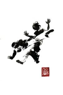 Encres : Capoeira – 598 [ #capoeira #watercolor #illustration] aquarelle sur papier 300gr / watercolor on paper 300gr 30 x 20 cm / 12 x 7.9 in