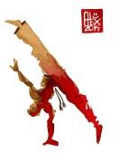 Encres : Capoeira – 613 [ #capoeira #watercolor #illustration] aquarelle sur papier 300gr / watercolor on paper 300gr 15 x 20 cm / 5.9 x 7.9 in
