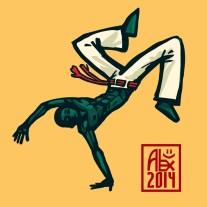 Encres : Capoeira – 620 [ #capoeira #mypaint #illustration] Image digitale / Digital image 2000 x 2000 px