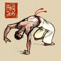 Encres : Capoeira – 624 [ #capoeira #mypaint #illustration] Image digitale / Digital image 2000 x 2000 px