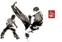 Encres : Capoeira – 631 [ #capoeira #watercolor #illustration] aquarelle sur papier 300gr / watercolor on paper 300gr 15 x 20 cm / 5.9 x 7.9 in