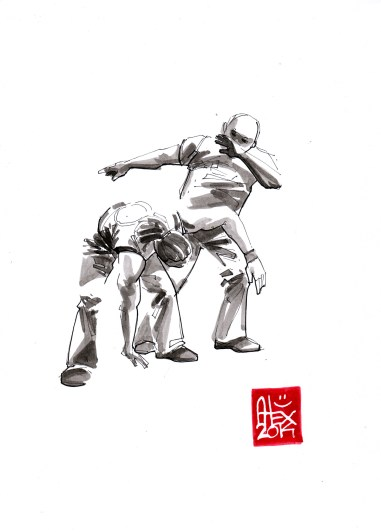 Illustration : Capoeira – 676 [ #capoeira #watercolor #illustration] aquarelle sur papier 180gr / watercolor on paper 180gr 21x 29.7 cm / 8.3 x 11.7 in