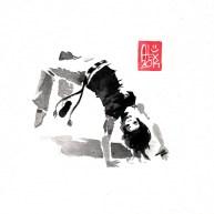 Illustration : Capoeira – 693 [ #capoeira #watercolor #illustration] aquarelle sur papier 325gr / watercolor on paper 325gr 16 x 16 cm / 6.30 x 6.30 in