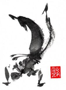 Illustration : Capoeira – 705 [ #capoeira #watercolor #illustration] aquarelle sur papier 325gr / watercolor on paper 325gr 12 x 16 cm / 4.7 x 6.30 in