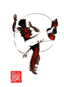Illustration : Capoeira – 713 [ #capoeira #watercolor #illustration] aquarelle sur papier 325gr / watercolor on paper 325gr 12 x 16 cm / 4.7 x 6.30 in
