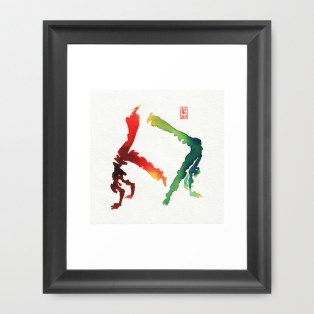 Capoeira 260 Framed Art Print