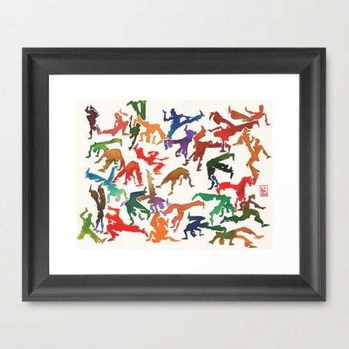 Capoeira 235 Framed Art Print