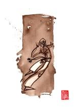 Illustration : Capoeira – 724 [ #capoeira #watercolor #illustration] aquarelle sur papier 325gr / watercolor on paper 325gr 24 x 32 cm / 9.4 x 12.6 in