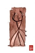 Illustration : Capoeira – 730 [ #capoeira #watercolor #illustration] aquarelle sur papier 325gr / watercolor on paper 325gr 24 x 32 cm / 9.4 x 12.6 in
