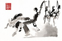 Illustration : Capoeira – 737 [ #capoeira #watercolor #illustration] aquarelle sur papier 325gr / watercolor on paper 325gr 24 x 16 cm / 9.4 x 6.3 in