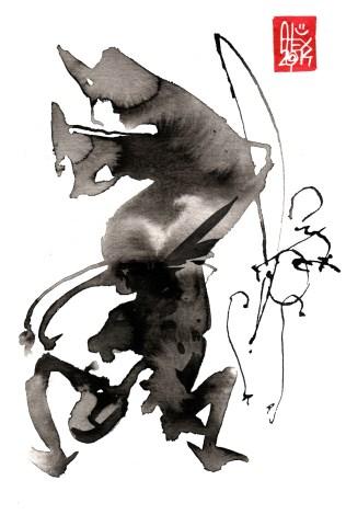Illustration : Capoeira – 739 [ #capoeira #watercolor #illustration] aquarelle sur papier 325gr / watercolor on paper 325gr 24 x 16 cm / 9.4 x 6.3 in