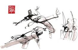 Illustration : Capoeira – 741 [ #capoeira #watercolor #illustration] aquarelle sur papier 325gr / watercolor on paper 325gr 24 x 16 cm / 9.4 x 6.3 in