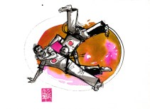 Illustration : Capoeira – 754 [ #capoeira #watercolor #illustration] aquarelle sur papier 325gr / watercolor on paper 325gr 24 x 32 cm / 9.4 x 12.6 in