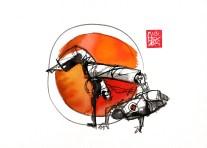 Illustration : Capoeira – 758 [ #capoeira #watercolor #illustration] aquarelle sur papier 325gr / watercolor on paper 325gr 24 x 32 cm / 9.4 x 12.6 in