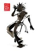 Illustration : Capoeira – 769 [ #capoeira #watercolor #illustration] aquarelle sur papier 325gr / watercolor on paper 325gr 12 x 16 cm / 4.7 x 6.30 in
