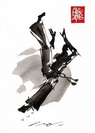 Illustration : Capoeira – 779 [ #capoeira #watercolor #illustration] aquarelle sur papier 325gr / watercolor on paper 325gr 20 x 15 cm / 7.9 x 5.9 in