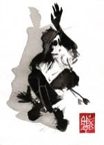 Illustration : Capoeira – 780 [ #capoeira #watercolor #illustration] aquarelle sur papier 325gr / watercolor on paper 325gr 20 x 15 cm / 7.9 x 5.9 in