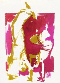 Illustration : Capoeira – 786 [ #capoeira #watercolor #illustration] aquarelle sur papier 325gr / watercolor on paper 325gr 19 x 14 cm / 7.5 x 5.5 in