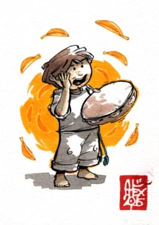 Illustration : Capoeira – 809 [ #capoeira #watercolor #illustration] aquarelle sur papier 300gr / watercolor on paper 300gr 10.5 x 14.8 cm / 4.1 x 5.8 in