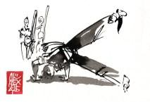 Illustration : Capoeira – 816 [ #capoeira #watercolor #illustration] aquarelle sur papier 300gr / watercolor on paper 300gr 10.5 x 14.8 cm / 4.1 x 5.8 in