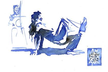 Illustration : Capoeira – 823 [ #capoeira #watercolor #illustration] aquarelle sur papier 300gr / watercolor on paper 300gr 10.5 x 14.8 cm / 4.1 x 5.8 in