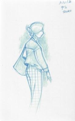 Elle avait un pantalon superbe.