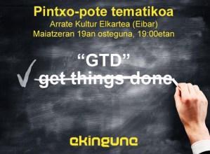 Produktibitate pertsonala hobetzeko metodoari buruzko saioa antolatu du gaurko Ekingune-k