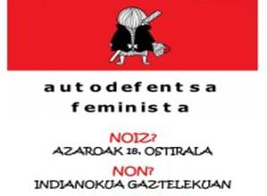 Indianokua Gaztelekuan egingo den autodefentsa ikastaroan izena emateko epea zabalik dago