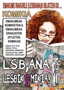 """""""Emakume irakurle (lesbiana)k komiki bila"""" proiektuaren aurkezpena Andretxean"""